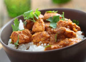 baked chicken curry recipe, curry and rice
