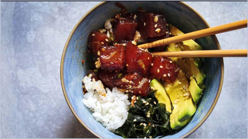 Hawaiian Inspired Sushi Bowls (Poke)